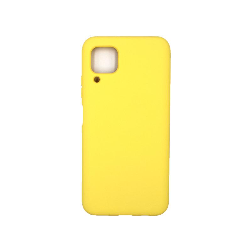 Θήκη Huawei P40 Lite Silky and Soft Touch Silicone κίτρινο 1