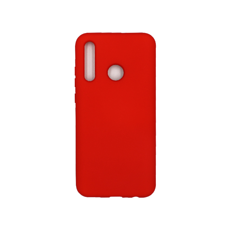 Θήκη P Smart Plus 2019 Silky and Soft Touch Silicone κόκκινο 1