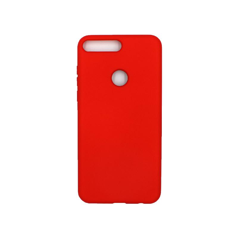 Θήκη Huawei Y7 2018 Silky and Soft Touch Silicone κόκκινο 1