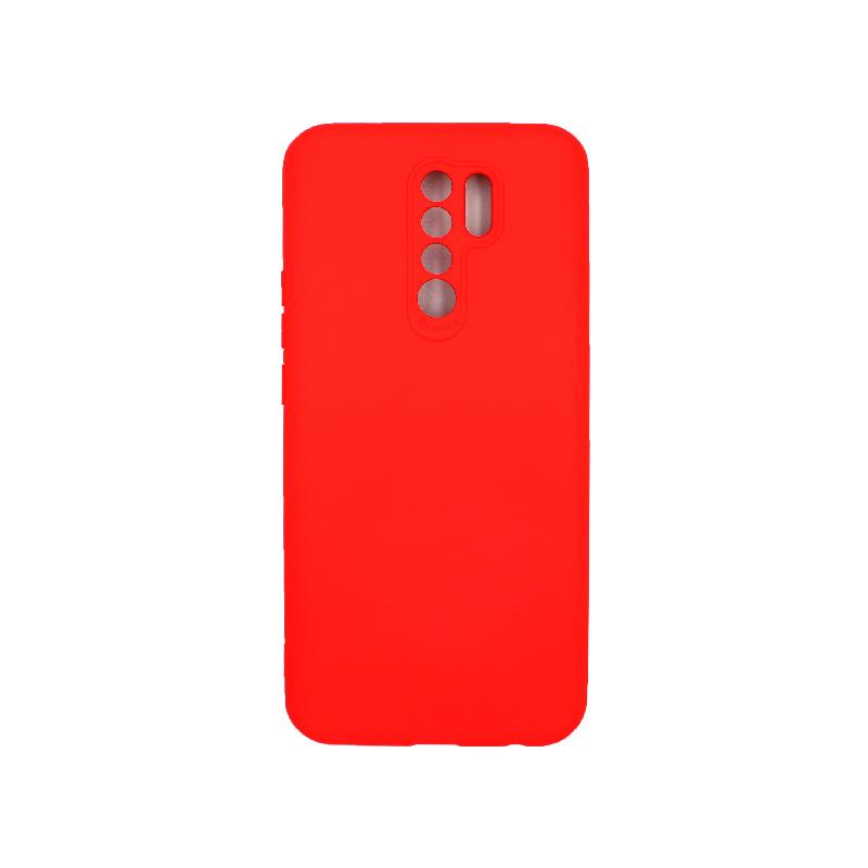 Θήκη Xiaomi Redmi 9 Silky and Soft Touch Silicone κόκκινο 1