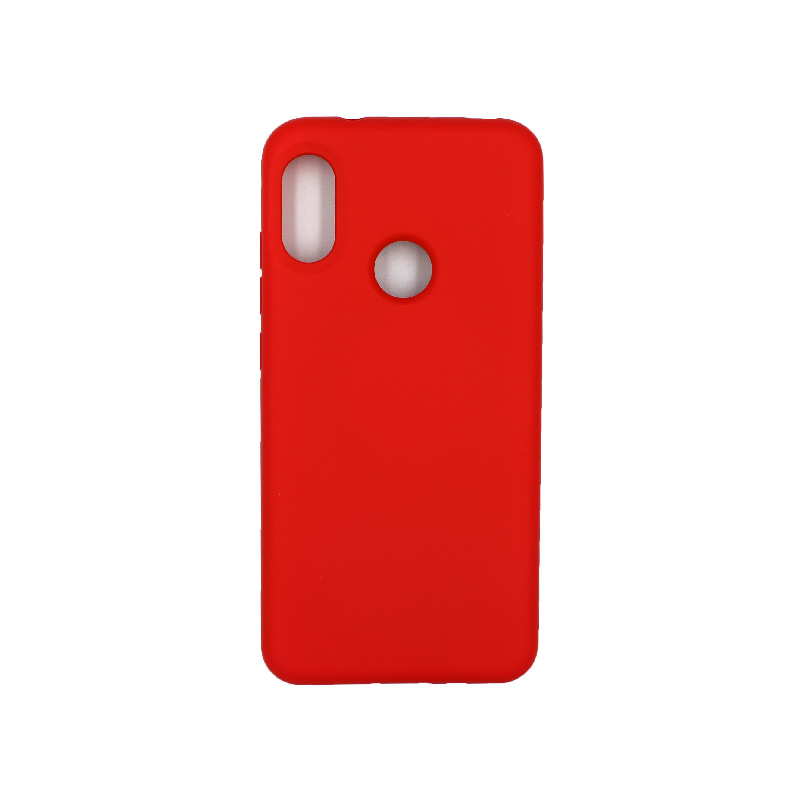 Θήκη Xiaomi Redmi Note 6 Pro Silky and Soft Touch Silicone κόκκινο 1