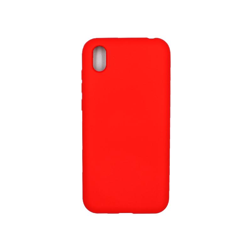 Θήκη Huawei Y5 2019 Silky and Soft Touch Silicone κόκκινο 1