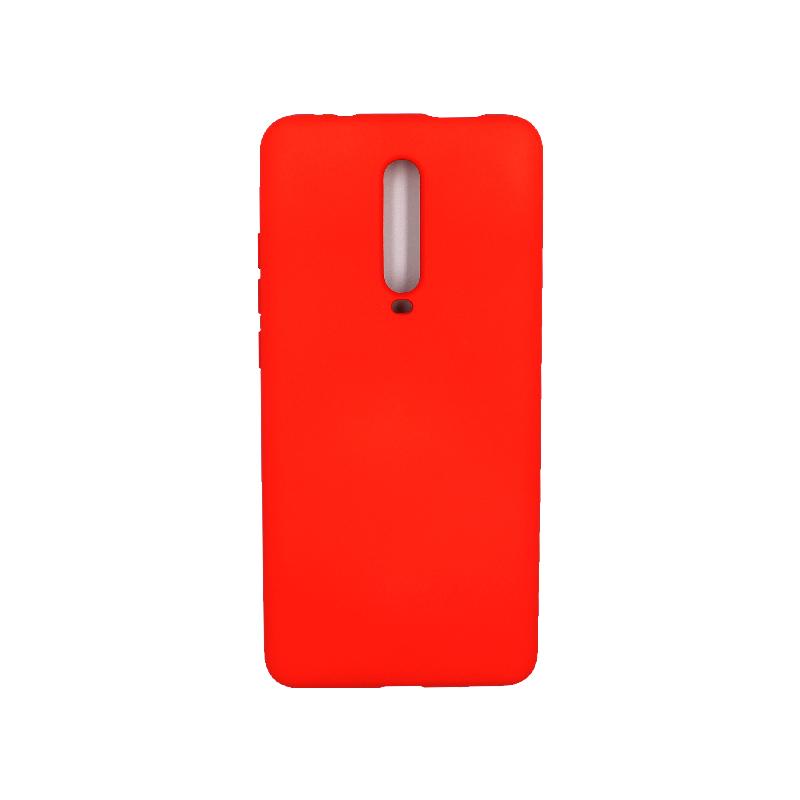 Θήκη Xiaomi Mi 9T / K20 / K20 Pro 9 Silky and Soft Touch Silicone κόκκινο 1