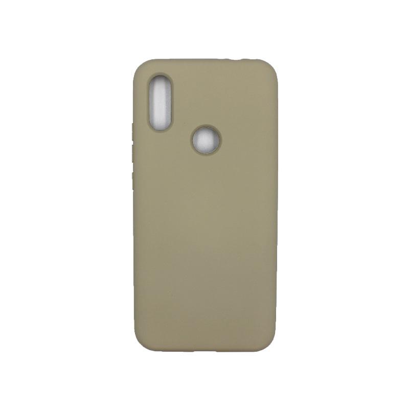 Θήκη Xiaomi Redmi 7 Pro Silky and Soft Touch Silicone λαδί 1
