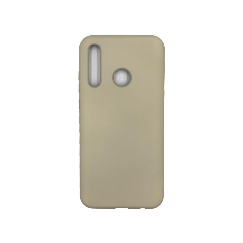 Θήκη P Smart Plus 2019 Silky and Soft Touch Silicone λαδί 1