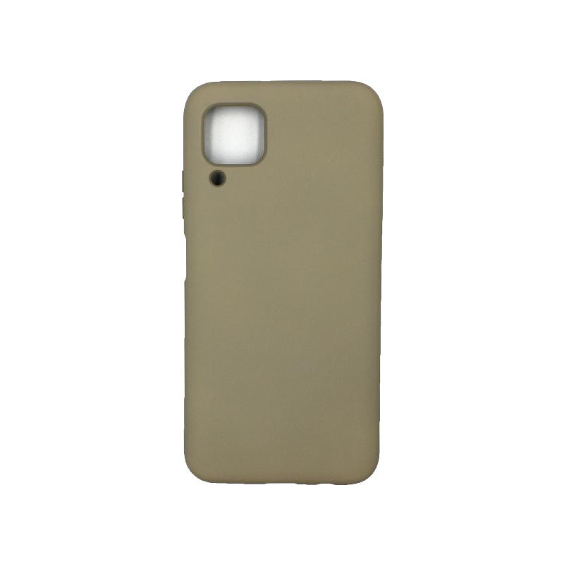 Θήκη Huawei P40 Lite Silky and Soft Touch Silicone λαδί 1
