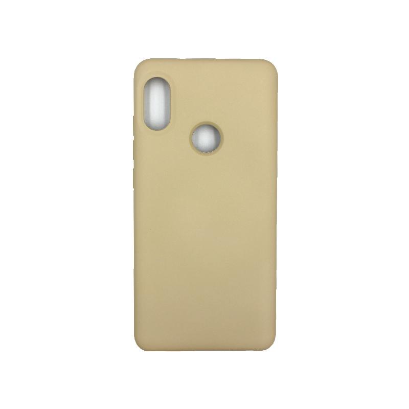 Θήκη Xiaomi Redmi Note 5 / 5 Pro Silky and Soft Touch Silicone λαδί 1