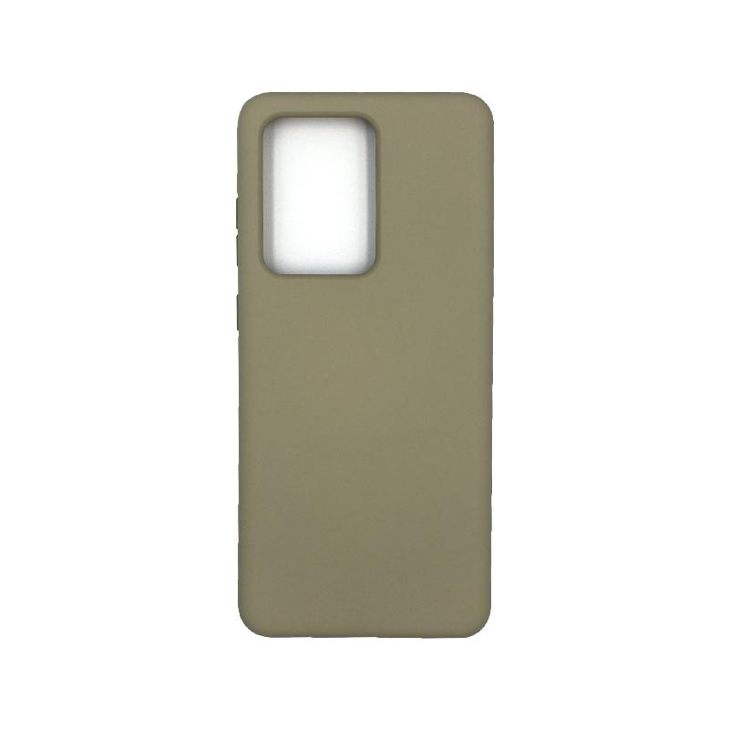 Θήκη Samsung Galaxy S20 Ultra Silky and Soft Touch Silicone λαδί 1