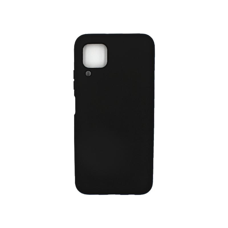 Θήκη Huawei P40 Lite Silky and Soft Touch Silicone μαύρο 1