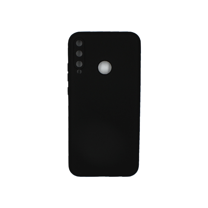 Θήκη Huawei P40 Lite E Silky and Soft Touch Silicone μαύρο 1