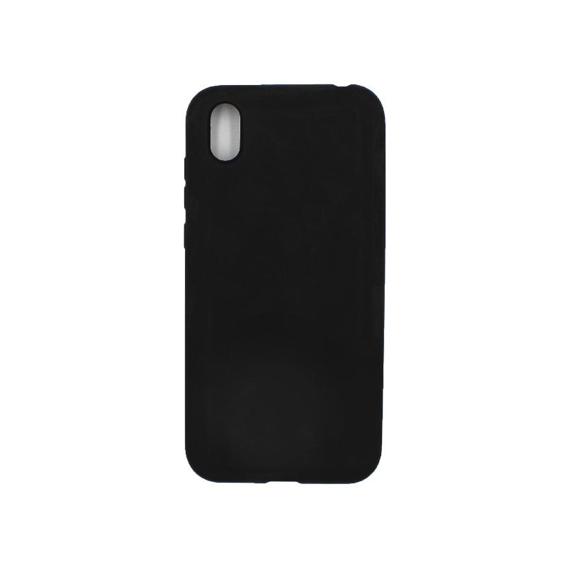 Θήκη Huawei Y5 2019 Silky and Soft Touch Silicone μαύρο 1
