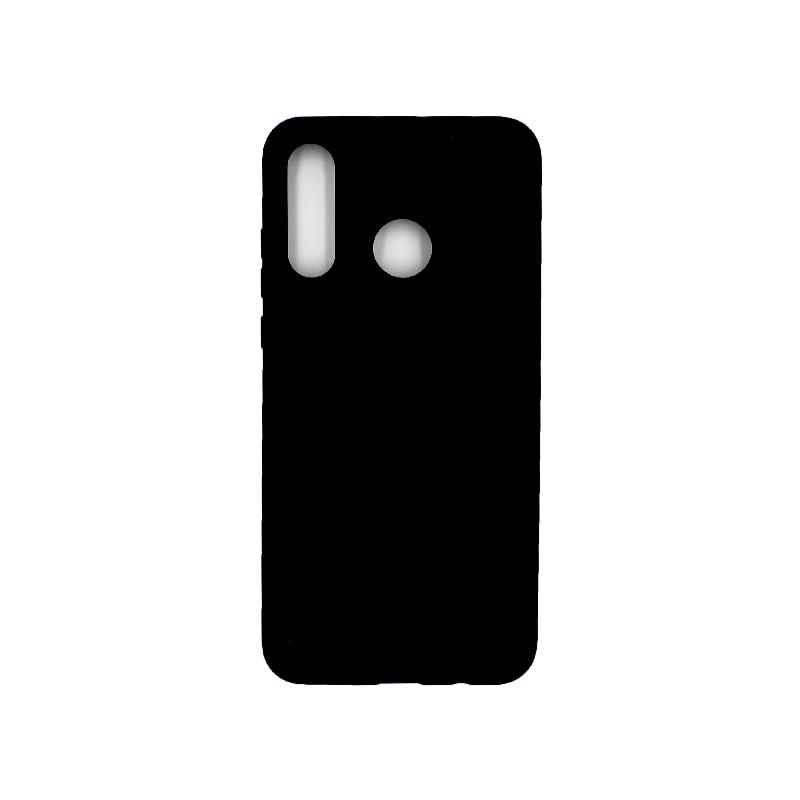 Θήκη Huawei P30 Lite Silky and Soft Touch Silicone μαύρο 1