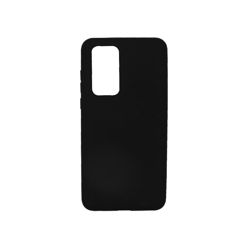 Θήκη Huawei P40 Silky and Soft Touch Silicone μαύρο 1