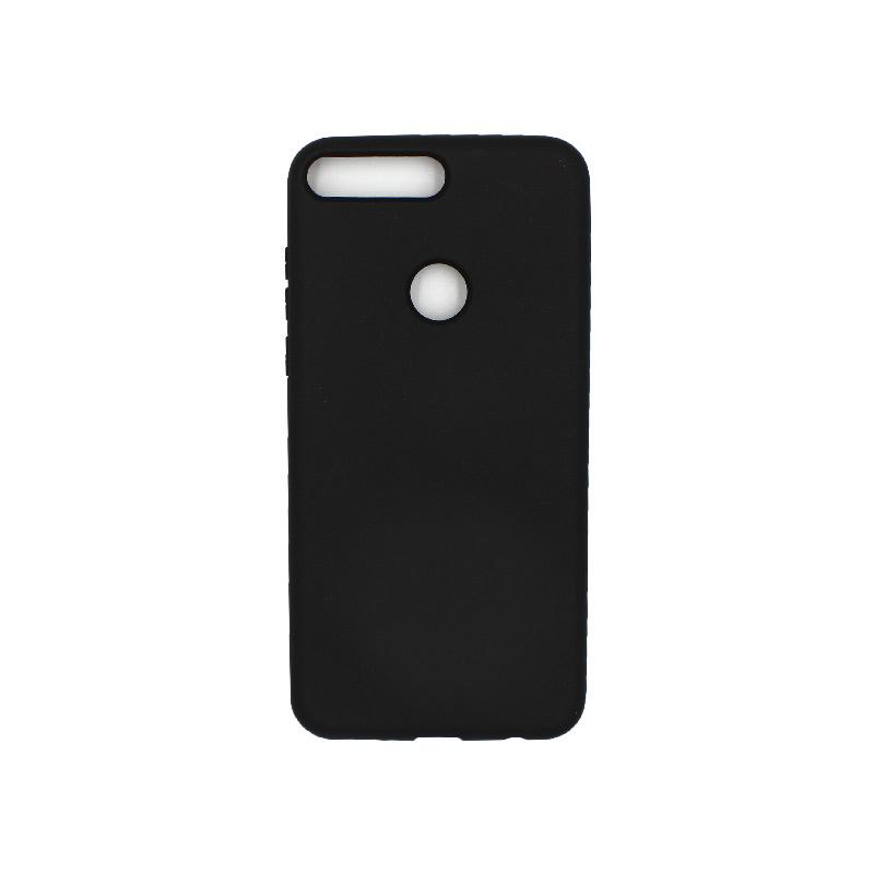 Θήκη Huawei Y7 2018 Silky and Soft Touch Silicone μαύρο 1