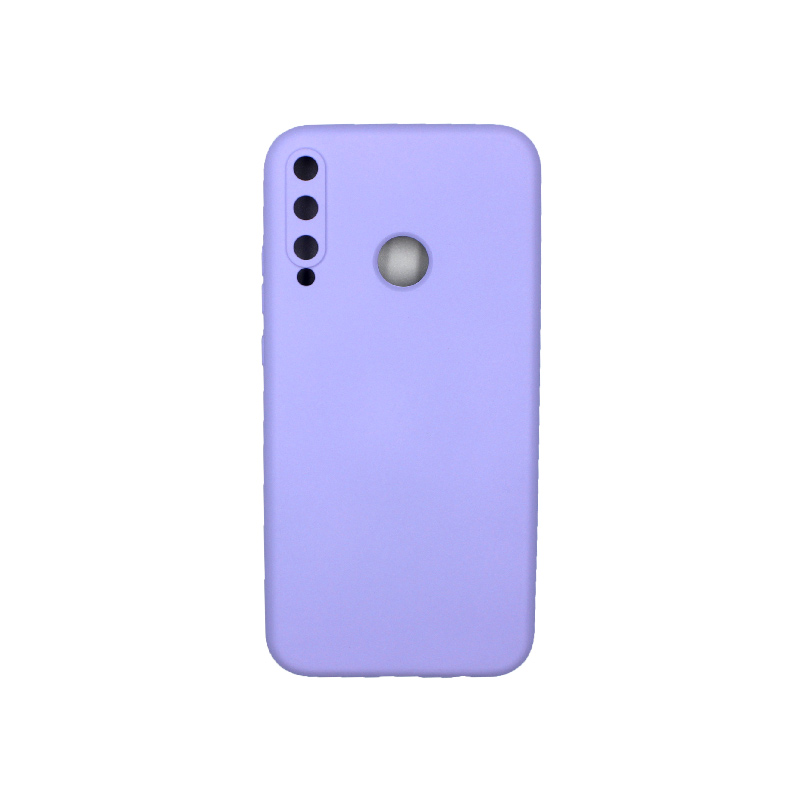 Θήκη Huawei P40 Lite E Silky and Soft Touch Silicone μωβ 1