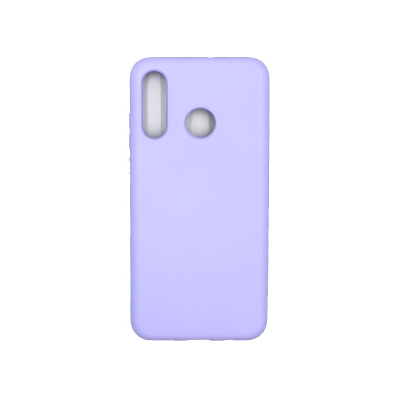 Θήκη Huawei P30 Lite Silky and Soft Touch Silicone μωβ 1