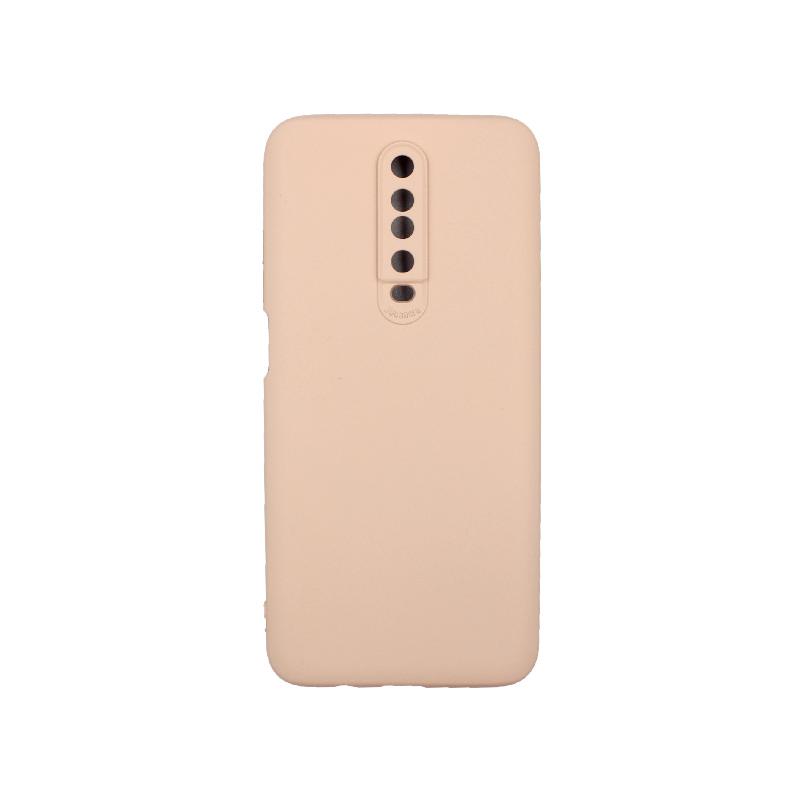 Θήκη Xiaomi Redmi K30 / K30 5G silky and soft touch σιλικόνη μπεζ 1