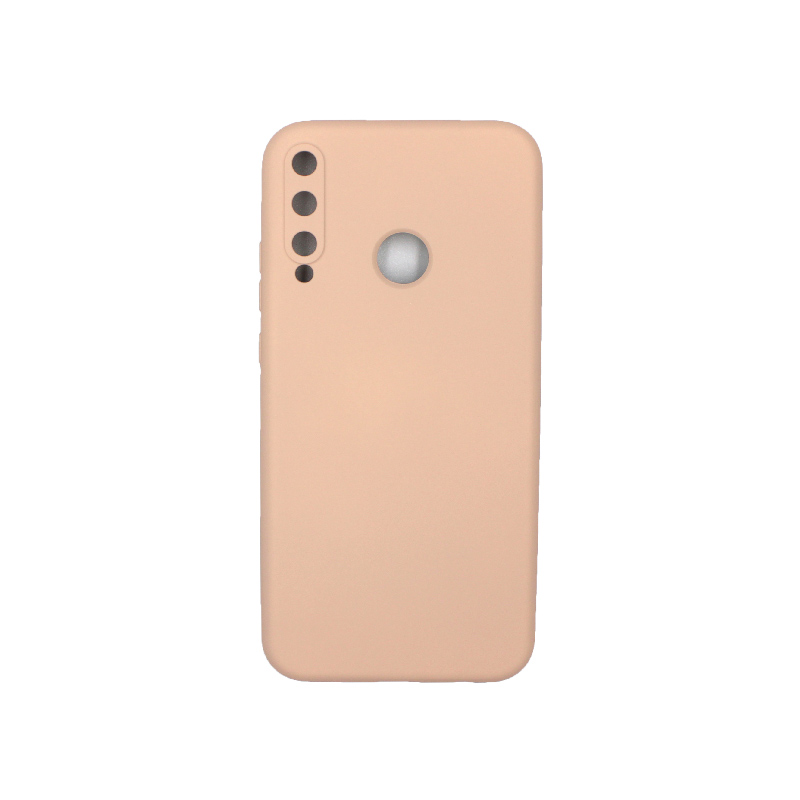 Θήκη Huawei P40 Lite E Silky and Soft Touch Silicone μπεζ 1
