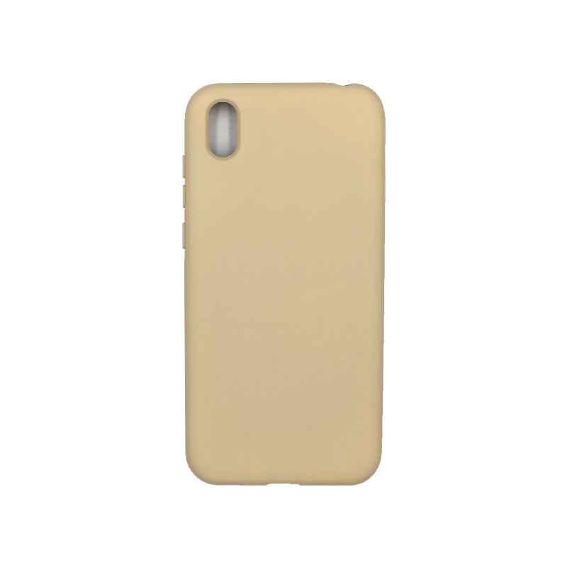 Θήκη Huawei Y5 2019 Silky and Soft Touch Silicone μπεζ 1
