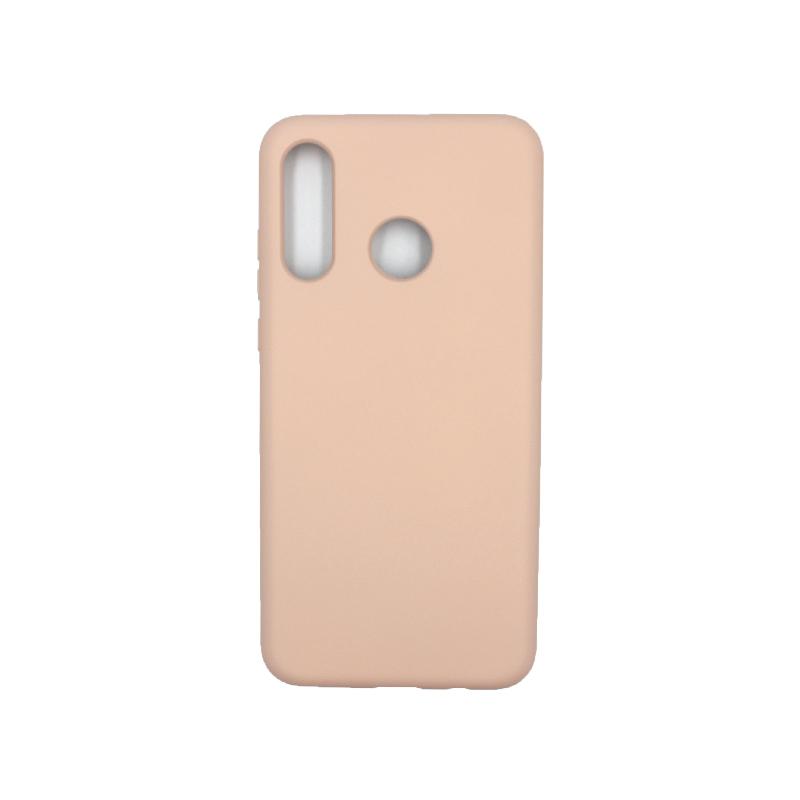 Θήκη Huawei P30 Lite Silky and Soft Touch Silicone μπεζ 1