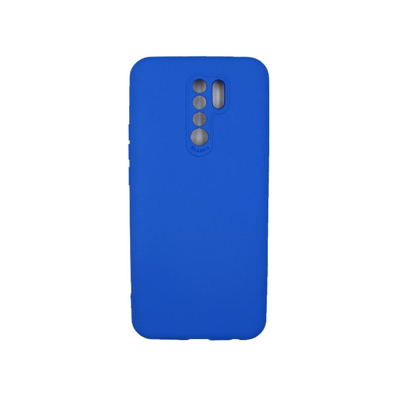 Θήκη Xiaomi Redmi 9 Silky and Soft Touch Silicone μπλε 1