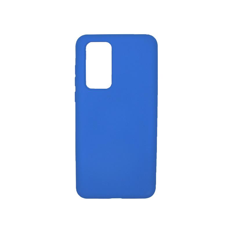 Θήκη Huawei P40 Silky and Soft Touch Silicone μπλε 1