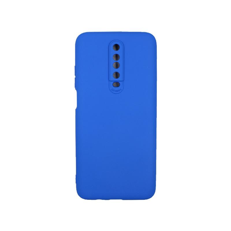 Θήκη Xiaomi Redmi K30 / K30 5G silky and soft touch σιλικόνη μπλε 1