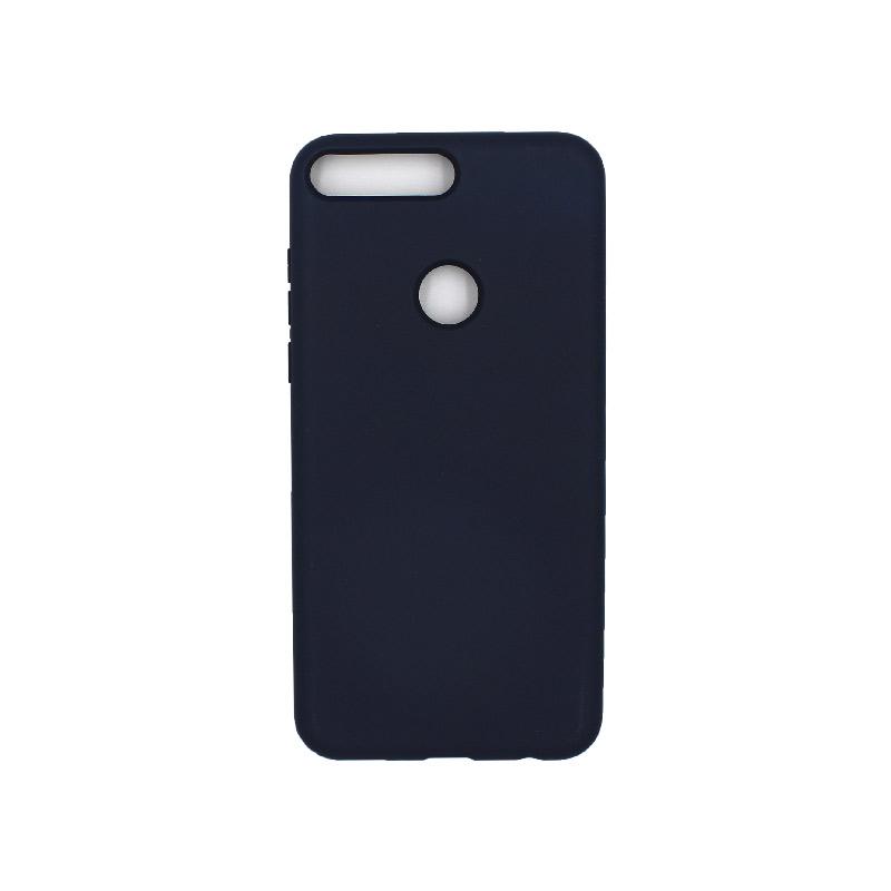 Θήκη Huawei Y7 2018 Silky and Soft Touch Silicone μπλε 1