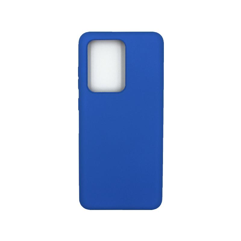 Θήκη Samsung Galaxy S20 Ultra Silky and Soft Touch Silicone μπλε 1