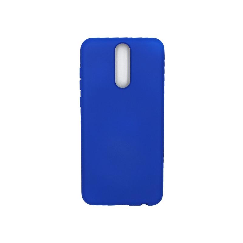 Θήκη Huawei Mate 10 Lite Silky and Soft Touch Silicone μπλε 1