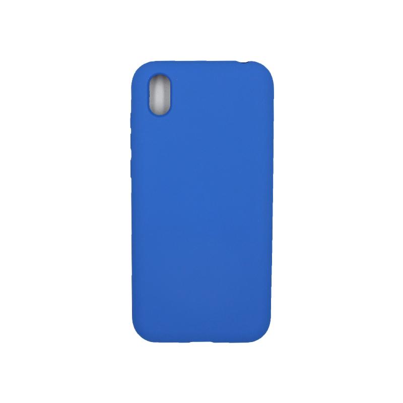 Θήκη Huawei Y5 2019 Silky and Soft Touch Silicone μπλε 1