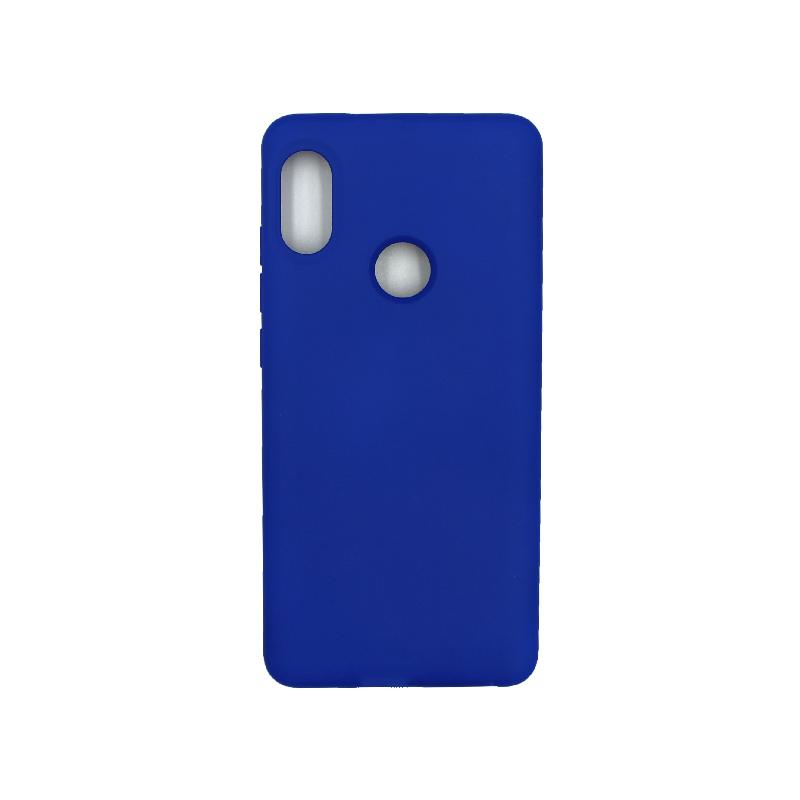 Θήκη Xiaomi Redmi Note 5 / 5 Pro Silky and Soft Touch Silicone μπλε 1