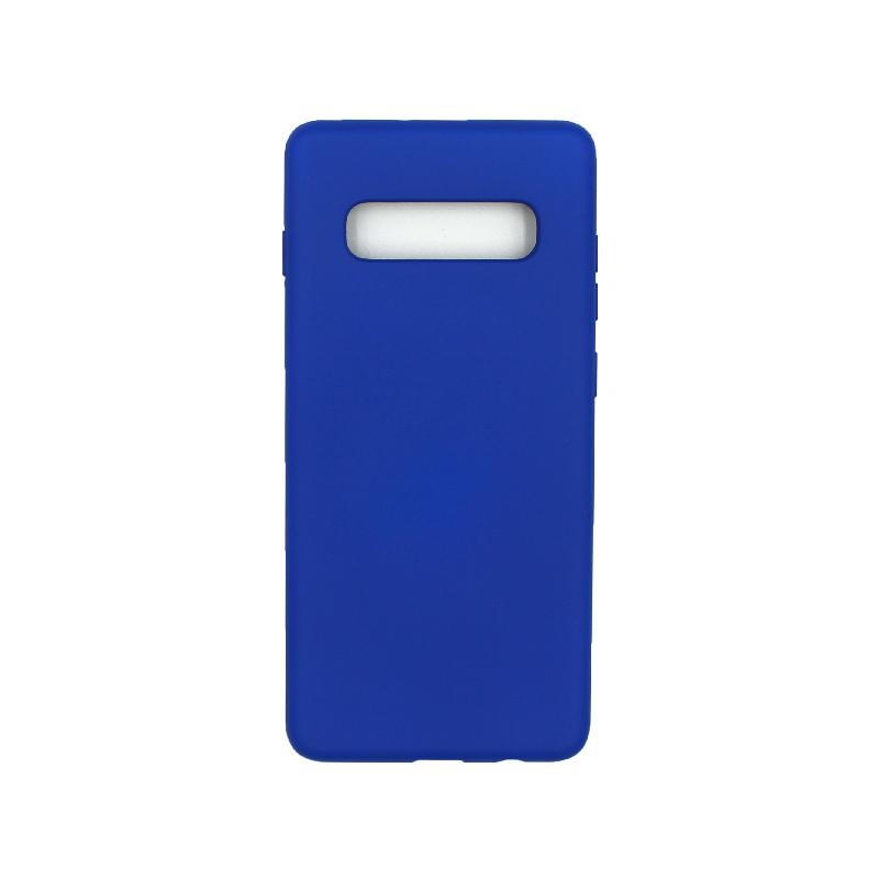 Θήκη Samsung Galaxy S10 Plus Silky and Soft Touch Silicone μπλε 1