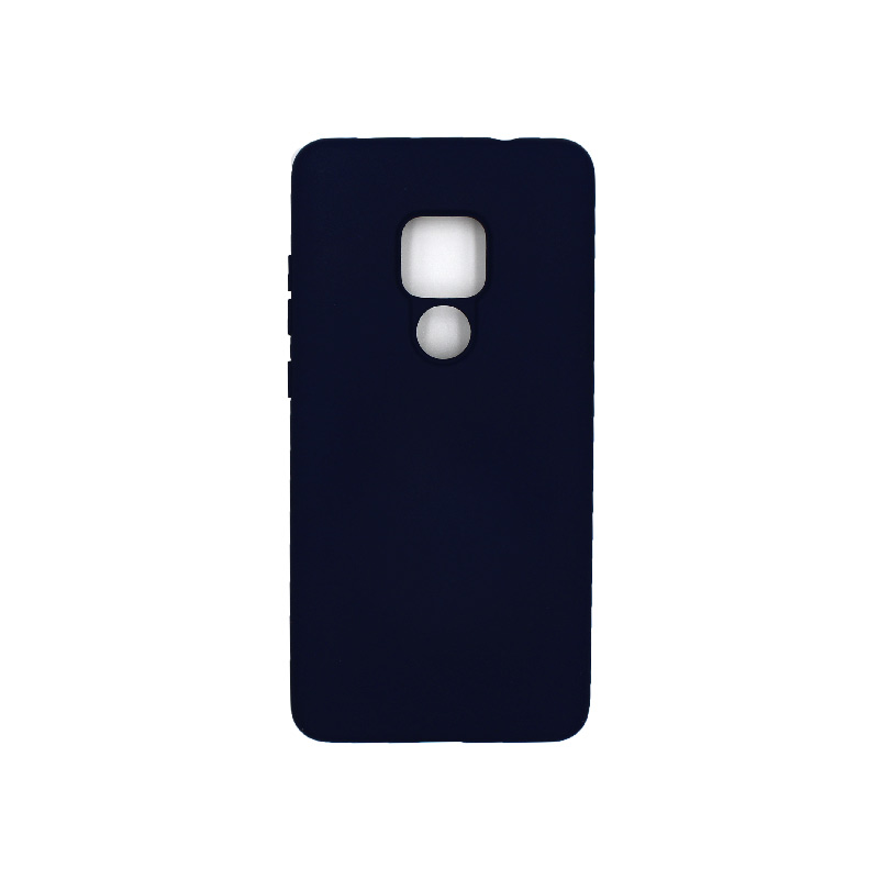 Θήκη Huawei Mate 20 Silky and Soft Touch Silicone σκούρο μπλε 1