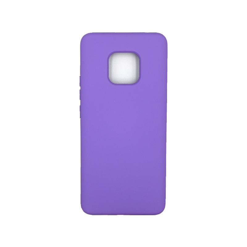 Θήκη Huawei Mate 20 Pro Silky and Soft Touch Silicone μωβ 1