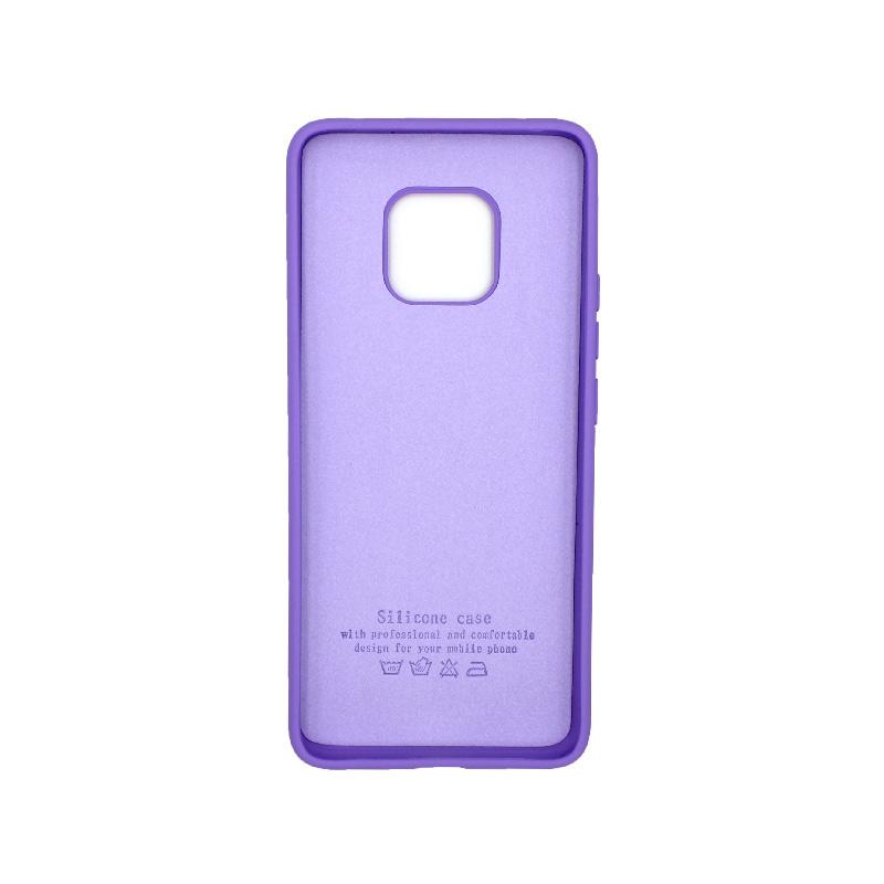 Θήκη Huawei Mate 20 Pro Silky and Soft Touch Silicone μωβ 2