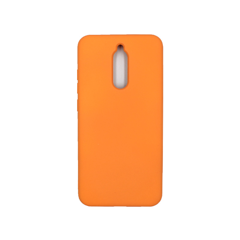 Θήκη Xiaomi Redmi 8 Silky and Soft Touch Silicone πορτοκαλί 1