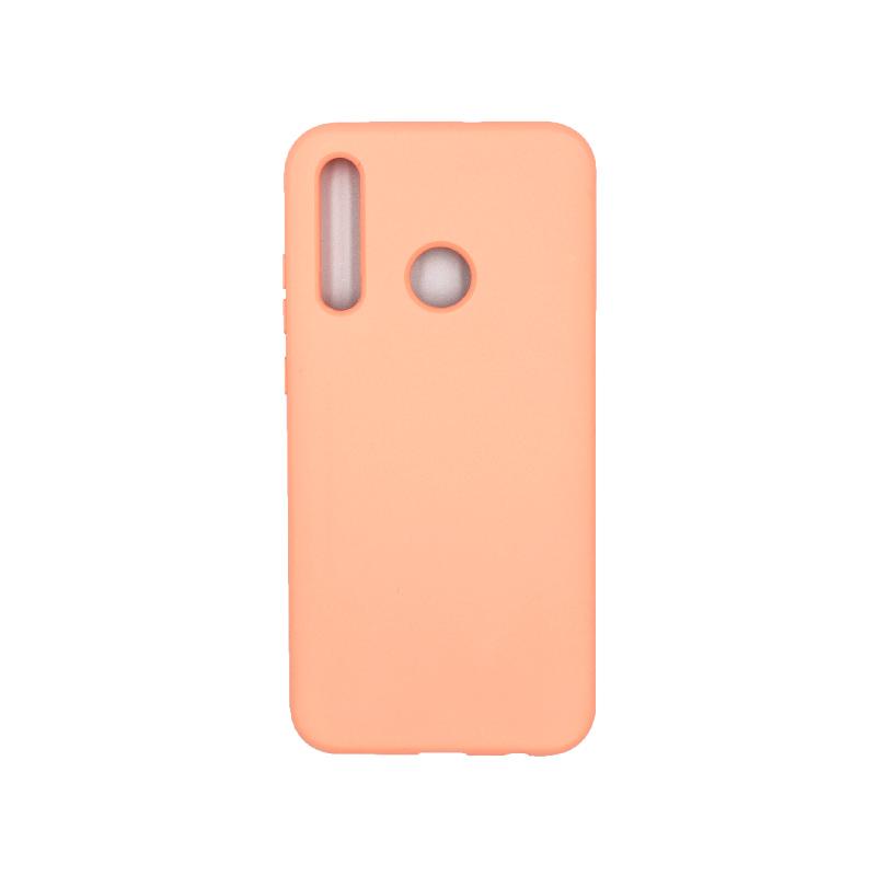 Θήκη P Smart Plus 2019 Silky and Soft Touch Silicone πορτοκαλί 1