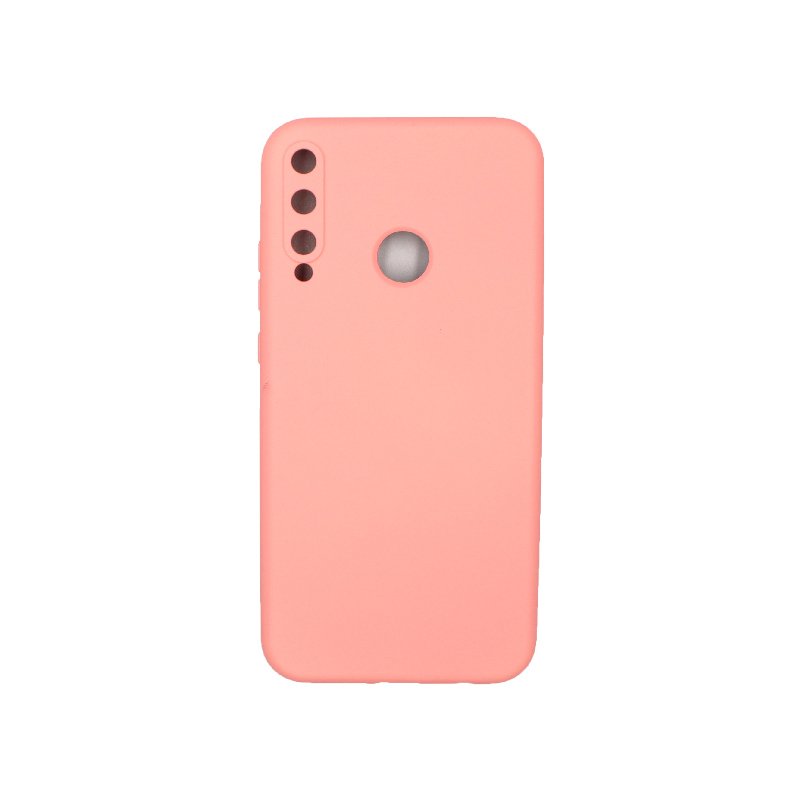 Θήκη Huawei P40 Lite E Silky and Soft Touch Silicone πορτοκαλί 1