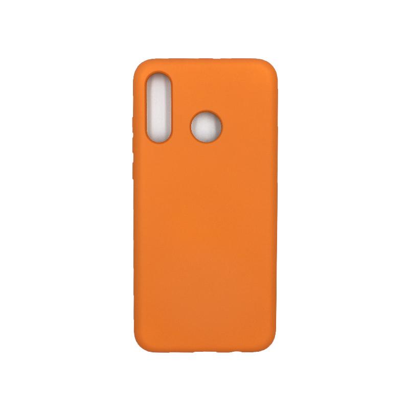 Θήκη Huawei P30 Lite Silky and Soft Touch Silicone πορτοκαλί 1