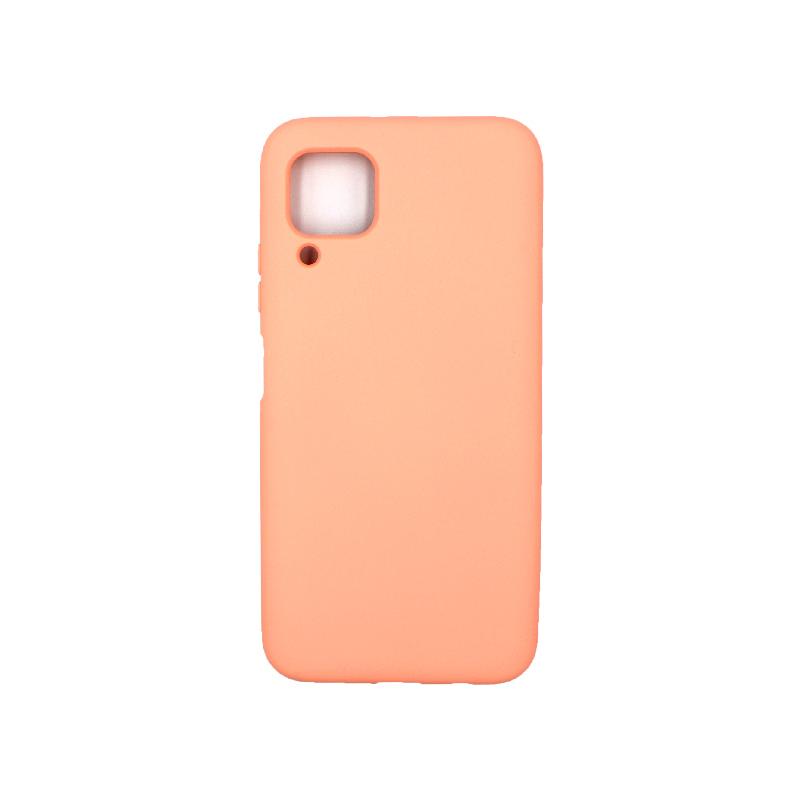 Θήκη Huawei P40 Lite Silky and Soft Touch Silicone πορτοκαλί 1