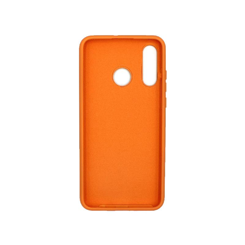 Θήκη Huawei P30 Lite Silky and Soft Touch Silicone πορτοκαλί 2