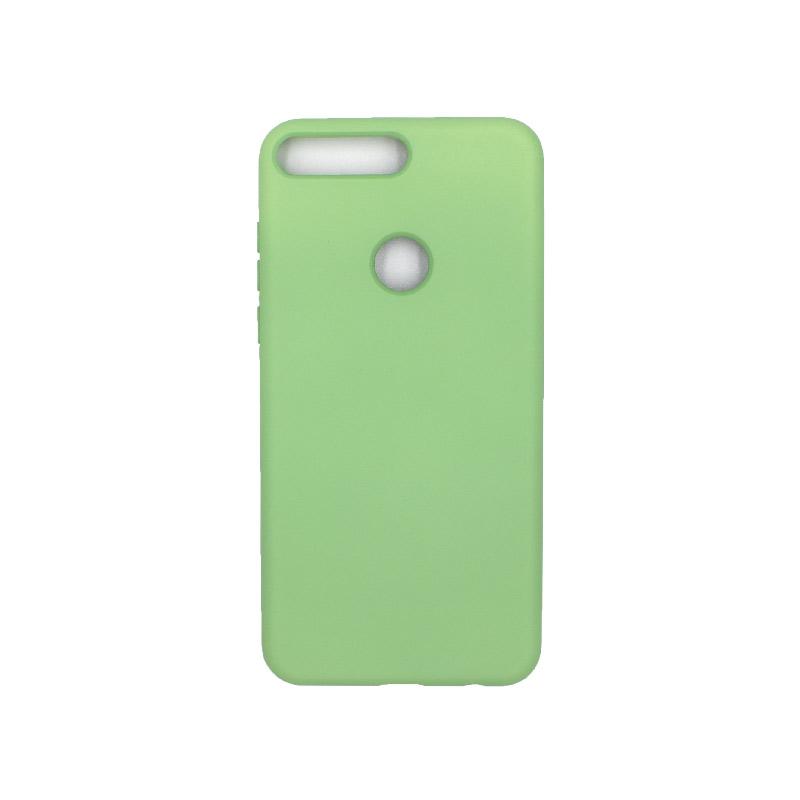 Θήκη Huawei Y7 2018 Silky and Soft Touch Silicone πράσινο 1