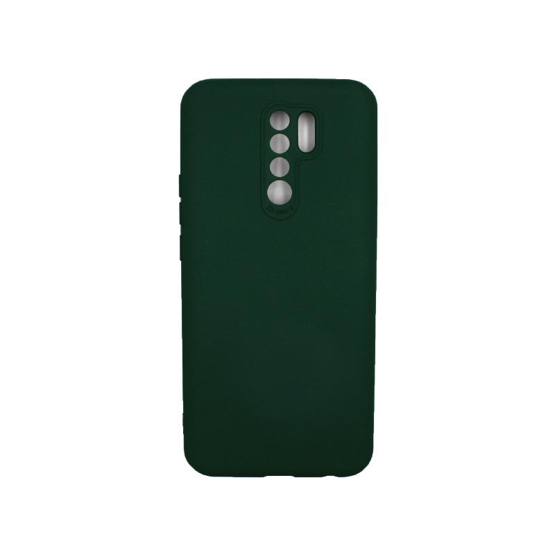 Θήκη Xiaomi Redmi 9 Silky and Soft Touch Silicone πράσινο 1