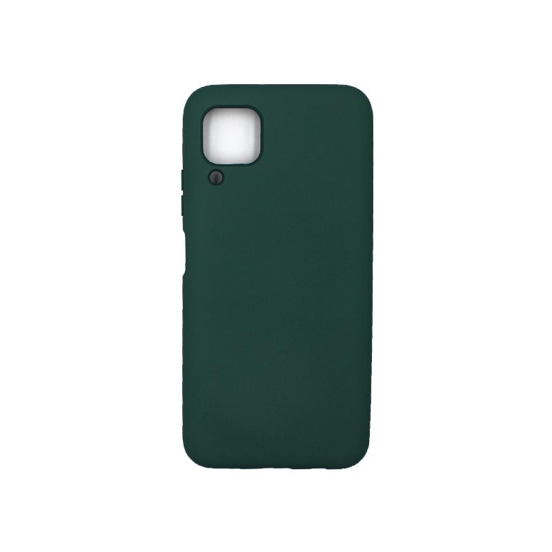 Θήκη Huawei P40 Lite Silky and Soft Touch Silicone πράσινο 1