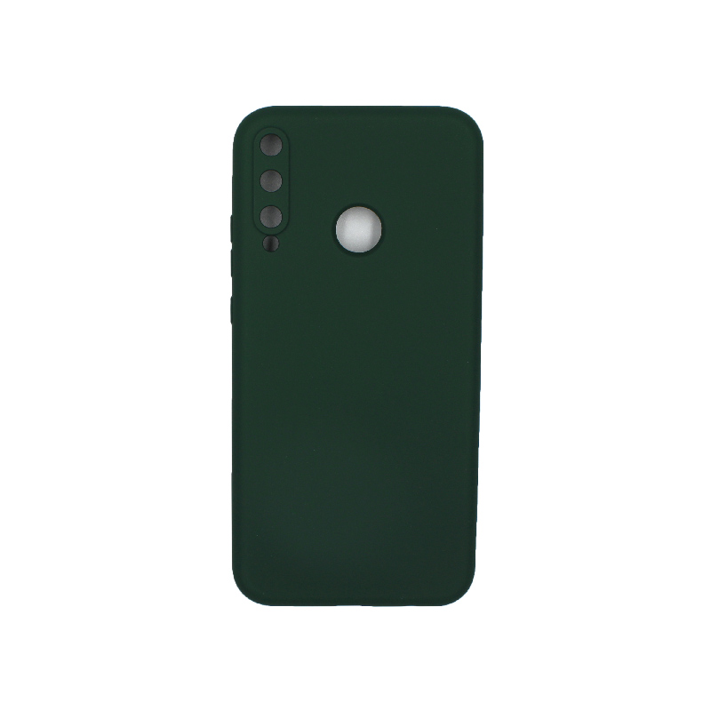 Θήκη Huawei P40 Lite E Silky and Soft Touch Silicone πράσινο 1