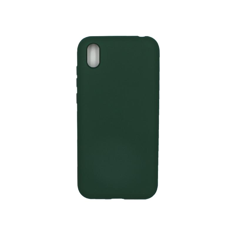Θήκη Huawei Y5 2019 Silky and Soft Touch Silicone πράσινο 1