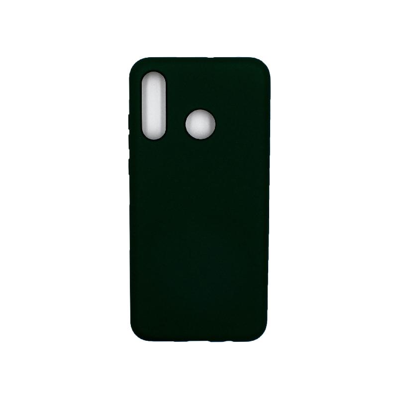 Θήκη Huawei P30 Lite Silky and Soft Touch Silicone πράσινο 1