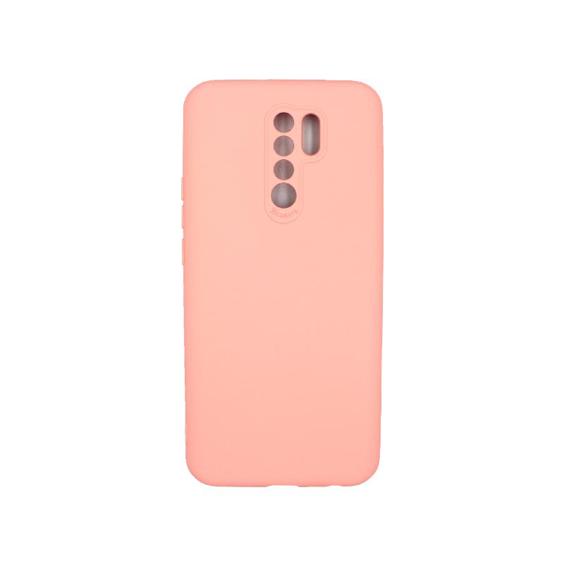 Θήκη Xiaomi Redmi 9 Silky and Soft Touch Silicone ροζ 1
