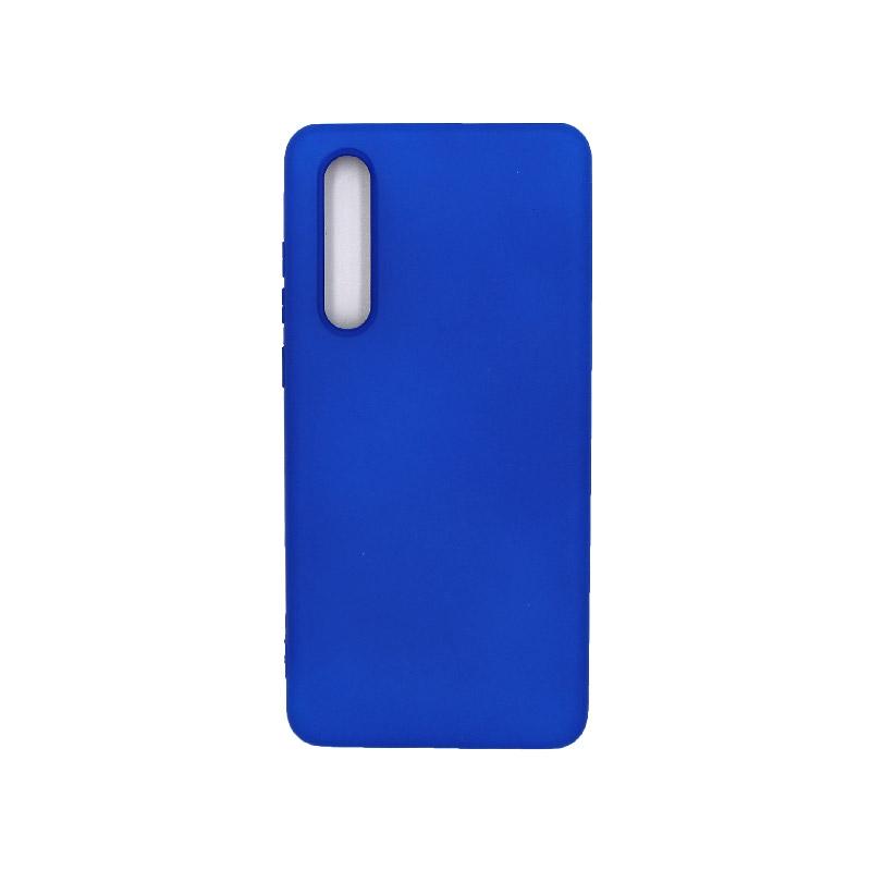 Θήκη Huawei P30 Silky and Soft Touch Silicone μπλε 1